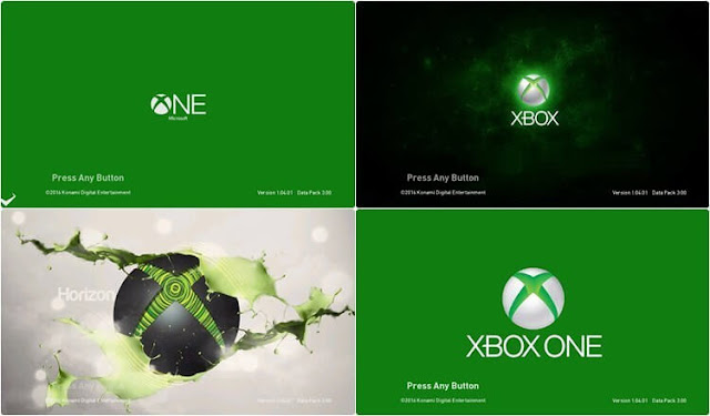 Xbox Start Screen PES 2017
