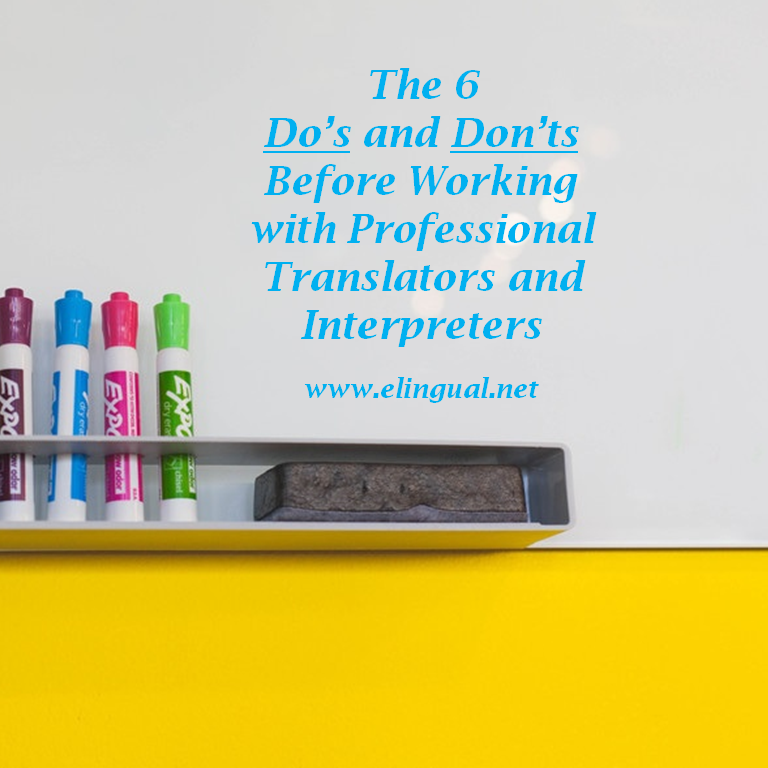 The 6 Do S And 6 Don Ts Before Working With Professional