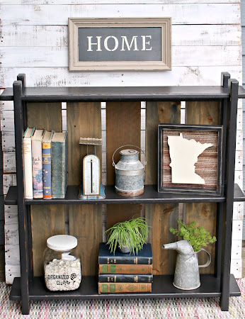 Curbside Bookcase Makeover with Fence Boards
