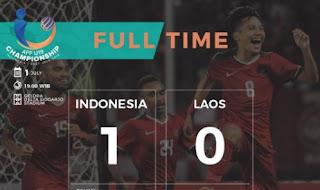 Timnas Indonesia U-19 Menang 1-0 atas Laos - Piala AFF U-19 2018