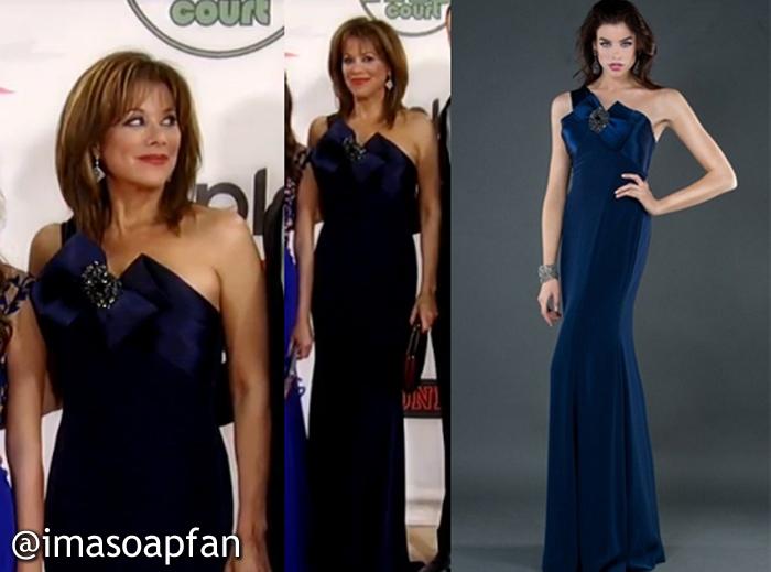Alexis Davis, Nancy Lee Grahn, One-shoulder Navy Dress with Bow, Sofia House, Nurses Ball, GH, General Hospital, Season 52, Episode 28, 5/08/14
