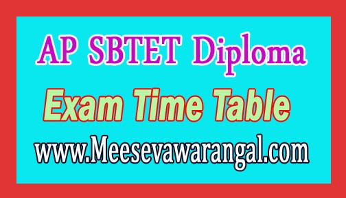 AP SBTET Diploma Exam Time Table Download