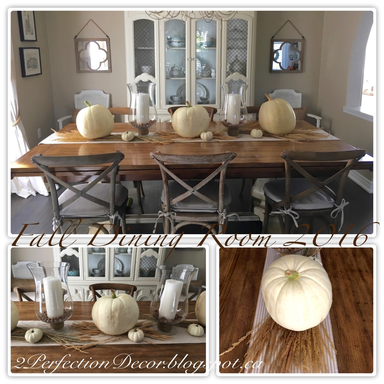 2perfection decor dining room decorated for fall