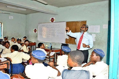 PHOTOS: House of Reps Leader, Femi Gbajabiamila Returns To School As Teacher