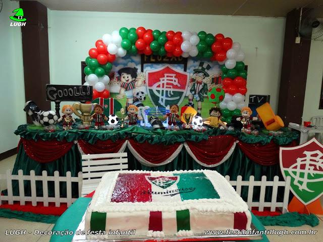Tema do Fluminense para decoração de festa de aniversário infantil.