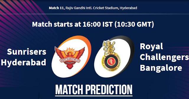 VIVO IPL 2019 Match 11 SRH vs RCB Match Prediction, Probable Playing XI Who Will Win