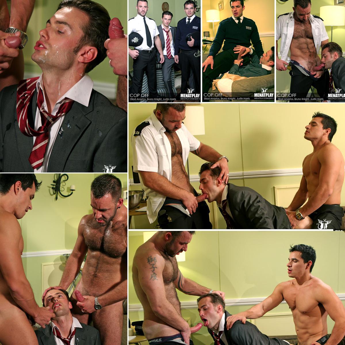 Sexo Gay Policiais traçando o rabo do putão