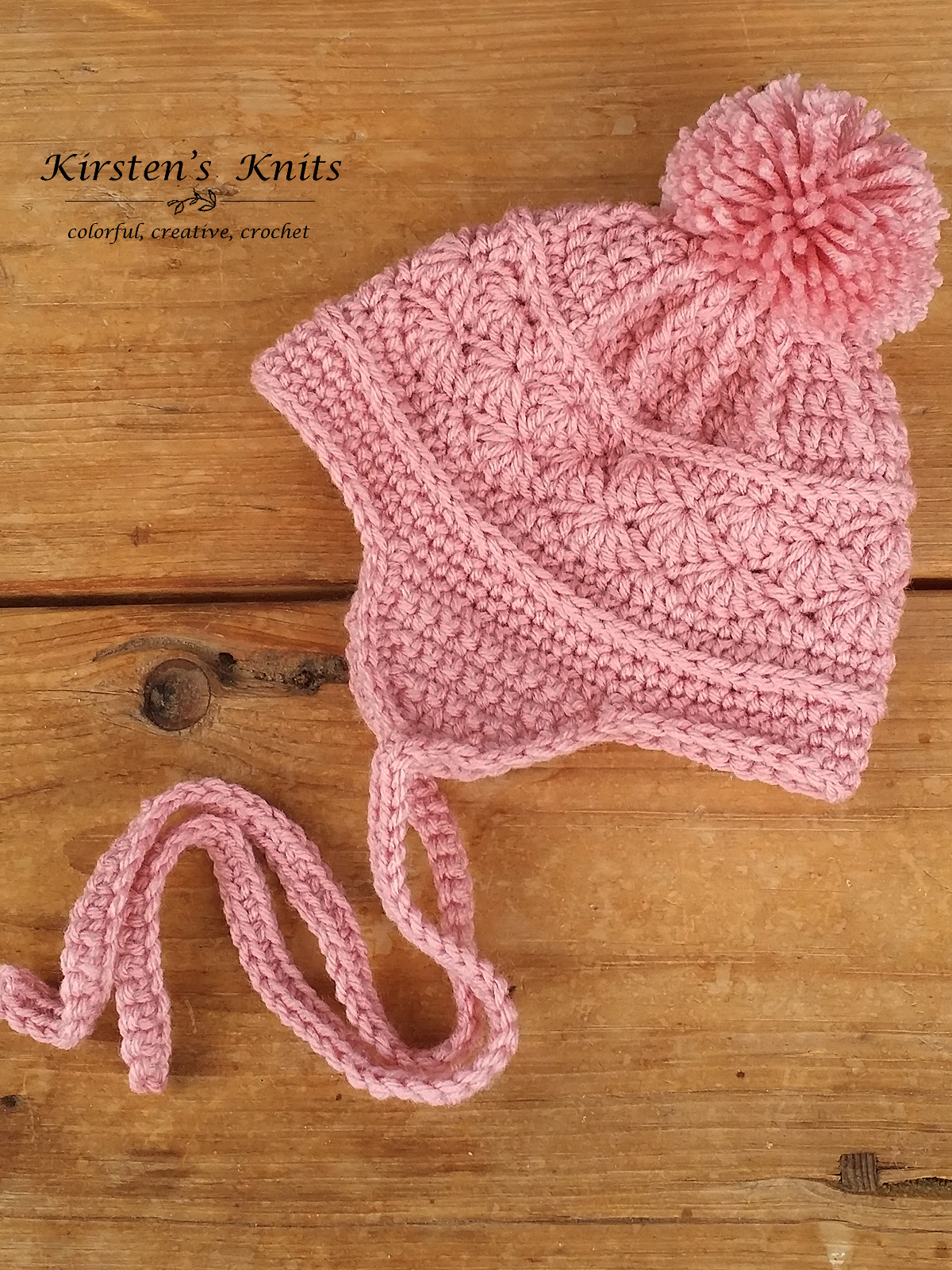 Pattern La Vie En Rose Earflap Hat Kirsten Holloway