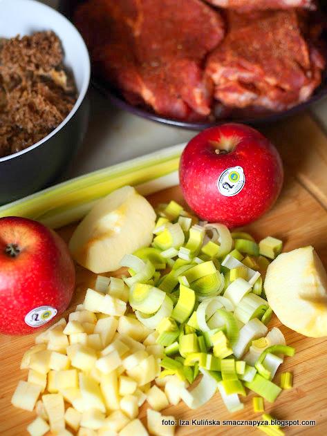 pory, jablko, jablka grojeckie, siedzun sosnowy, karkowka, co dzis na obiad, krojenie