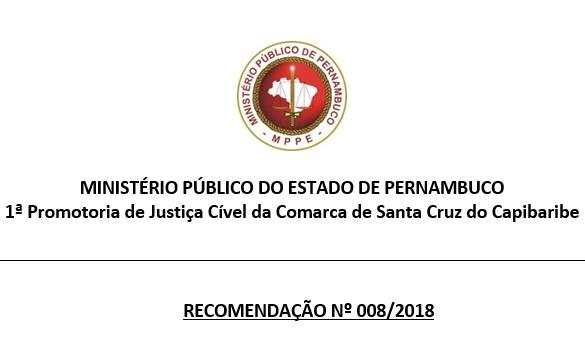 Ministério Público recomenda que prefeito de Santa Cruz reintegre servidores públicos demitidos