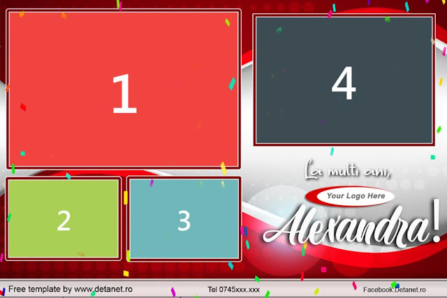 Template PhotoBooth gratuit  Party-Red