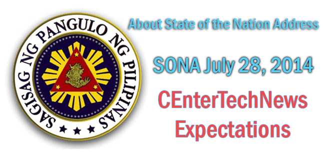 About State of the Nation Address 'SONA' July 28, 2014