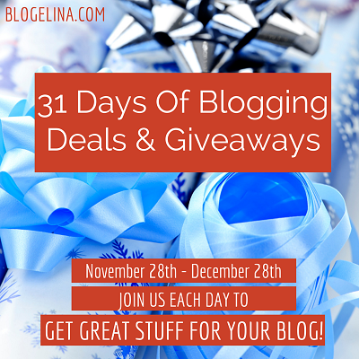 blogelina 31 days of giveaways and deals banner
