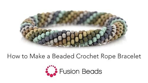 How To Make A Claspless Beaded Crochet Rope Bracelet The Beading
