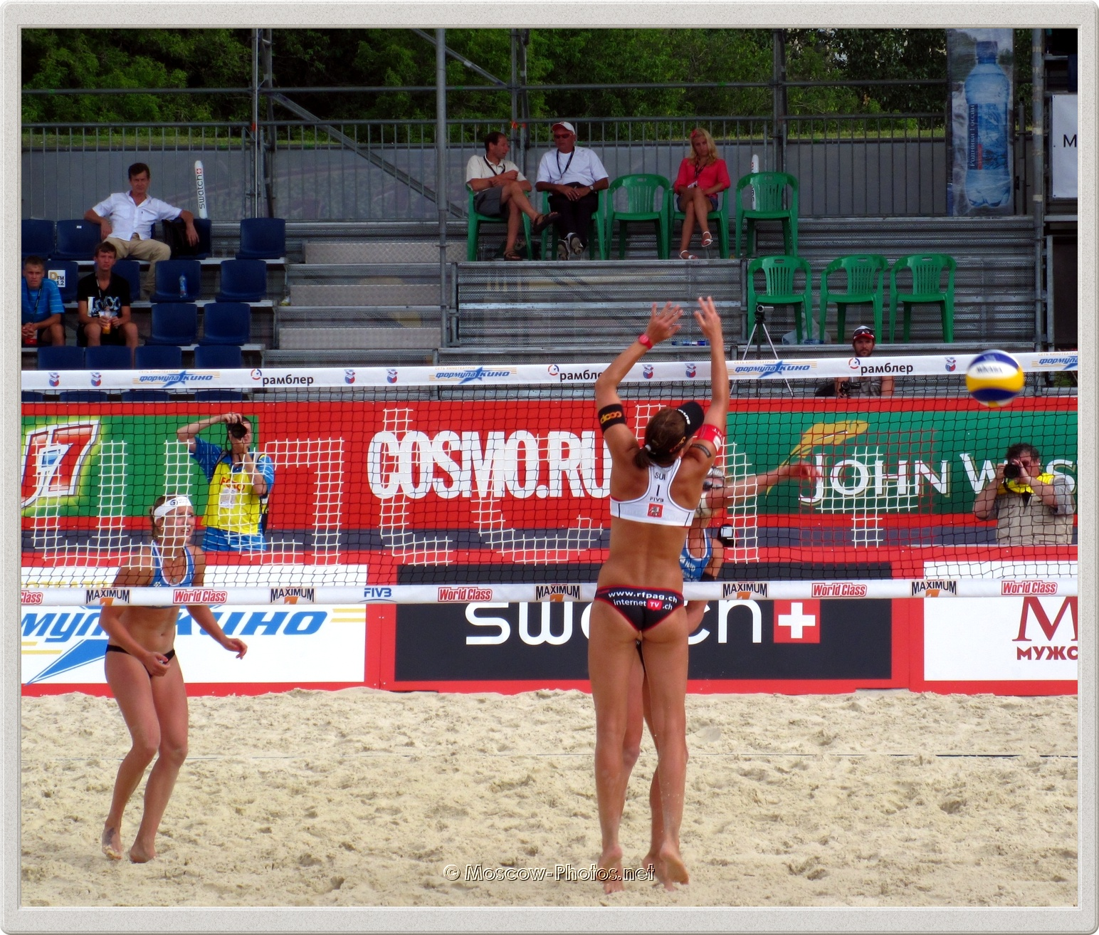 Center Block of Swiss Women's Beach Volleyball Team