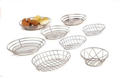 metal basket, oval basket, serving basket, stainless steel basket