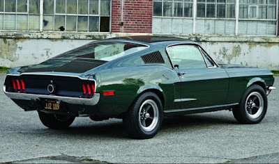 1968 Green Mustang Bullit Fastback Rear Right