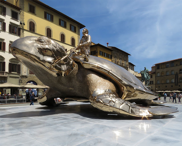 Searching for Utopia by Jan Fabre, Piazza della Signoria, Florence