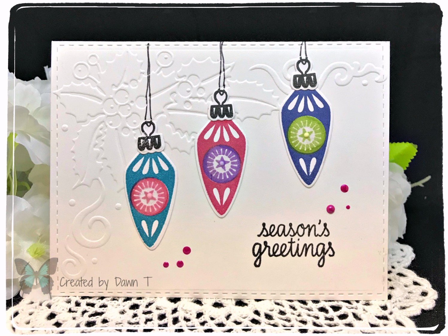 Dawn\'s World: Christmas Ornaments and other Christmas cards