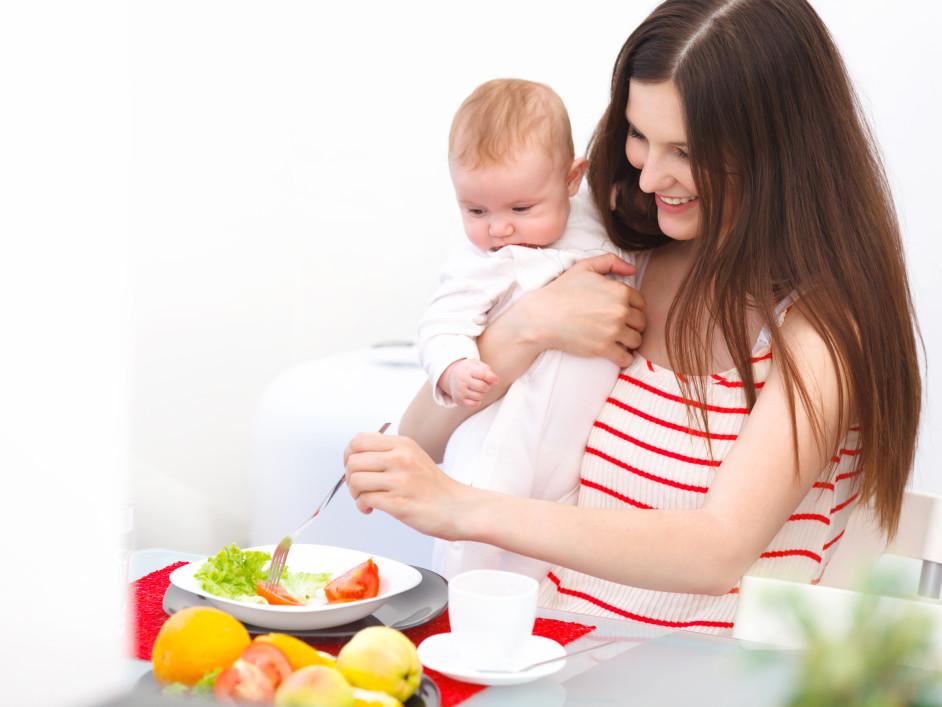 Диета при грудном вскармливании : меню и рецепты