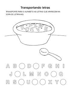 Atividades de Alfabetização - Anos Iniciais - Letras do alfabeto