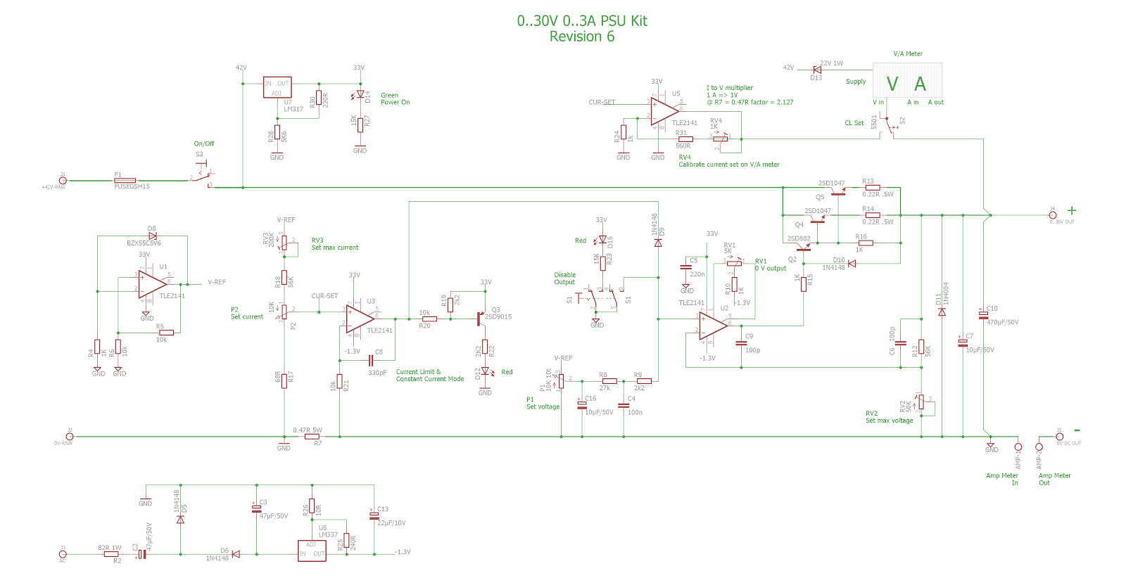 paul s diy electronics blog tuning a 0 30v dc 0 3a psu diy kit 3v 30v 3a adjustable regulated power supply circuit diagram [ 1600 x 822 Pixel ]