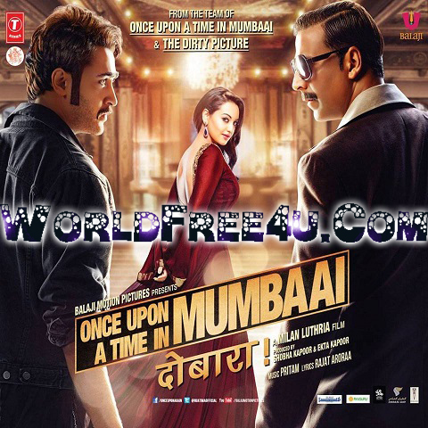 Poster Of Hindi Movie Once Upon Ay Time in Mumbai Dobaara (2013) Free Download Full New Hindi Movie Watch Online At worldfree4u.com