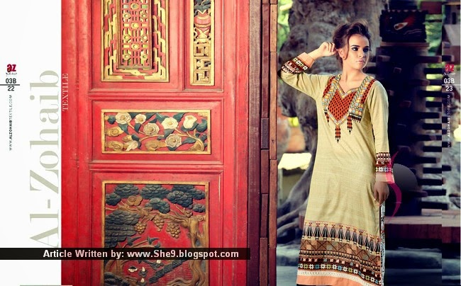 Zanisha Embroidered Kurti Summer Collection 2015