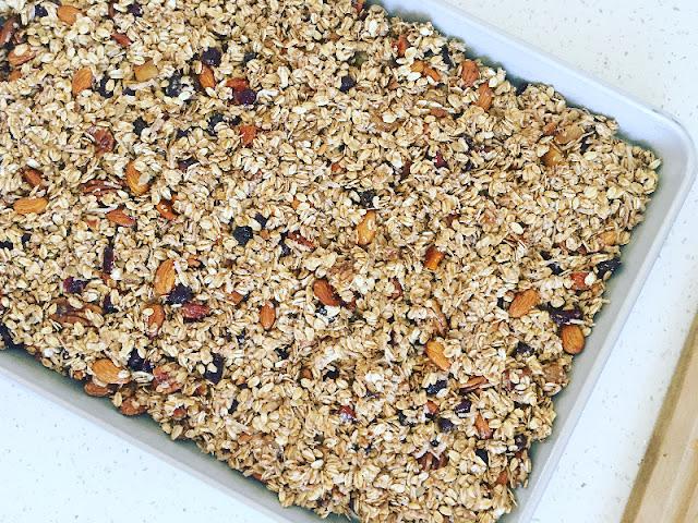 granola casera - antes de hornear