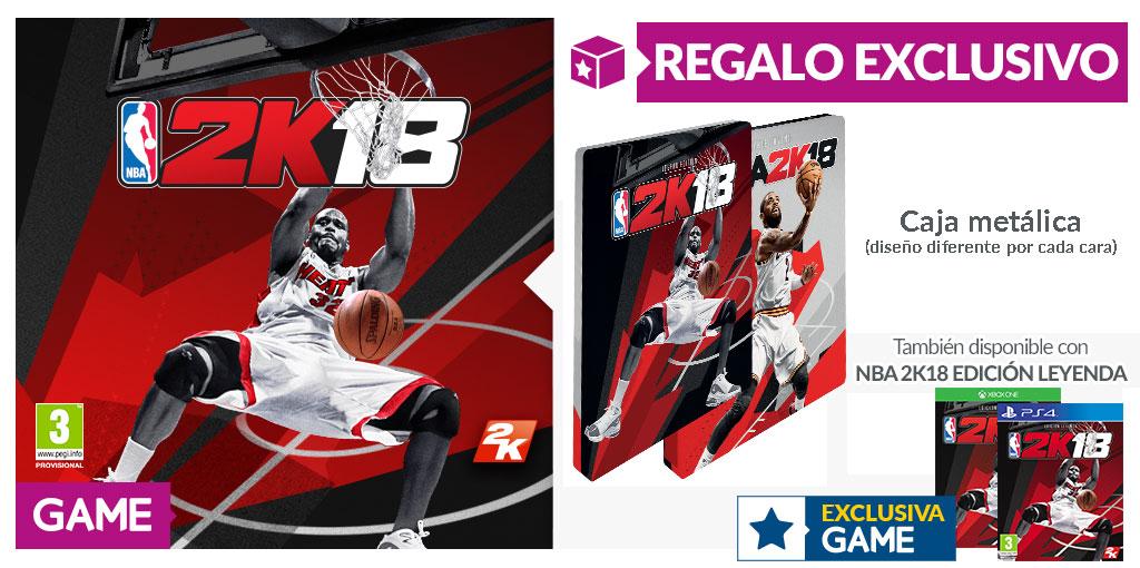 Llévate esta exclusiva caja metálica de NBA 2K18 con GAME
