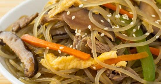韓式炒粉絲 【簡易健康】Korean Stir-Fried Noodles