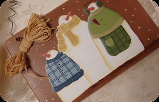targa natalizia dipinta a mano