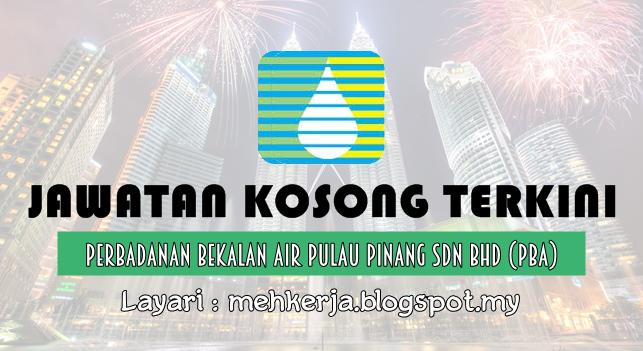 Jawatan Kosong Terkini 2016 di Perbadanan Bekalan Air Pulau Pinang (PBA)