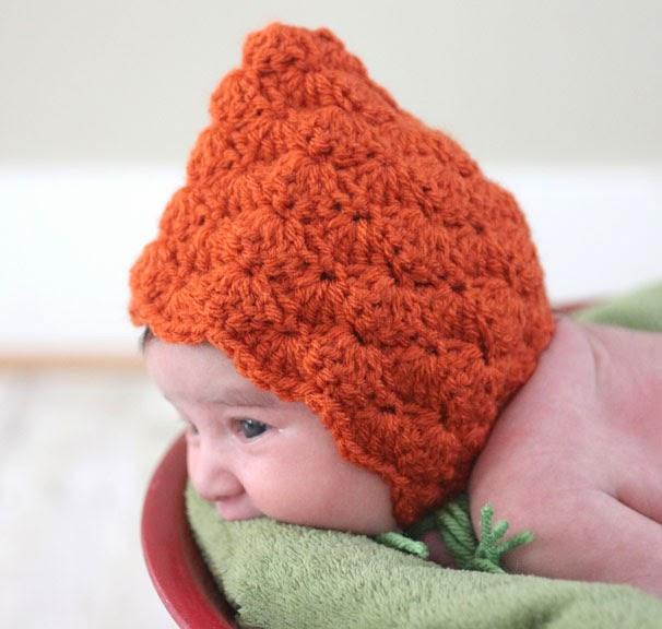 Crochet Pumpkin Pixie Bonnet - Repeat Crafter Me 608e852cd75
