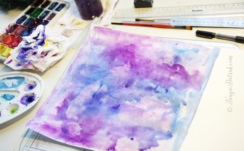 watercolor for scrapbooking