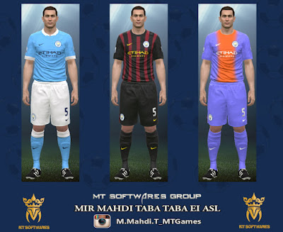 PES 2016 Manchester City 16-17 Kit Beta MT Games 1991