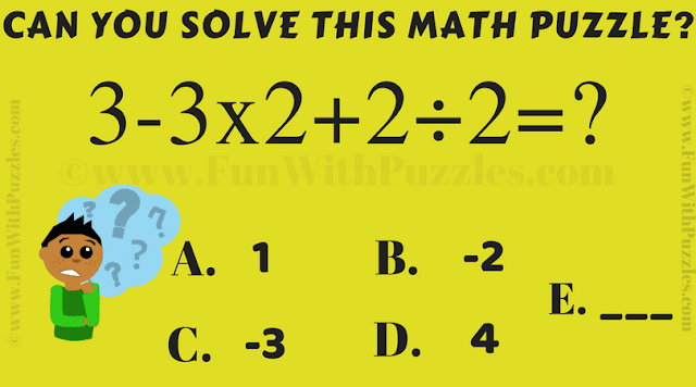 It is Math Puzzle for kids in which one has to quickly calculate the value of given arithmetic expression