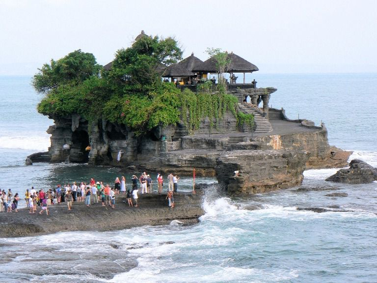 Tanah Lot Hindu Bali Sea Temple with sunset view Tourist Destination (Spot) - Bali, Beraban, Village, Sea Temple, Sunset, Hindu, Shrines, Tanah Lot, Kediri, Tabanan, Attractions