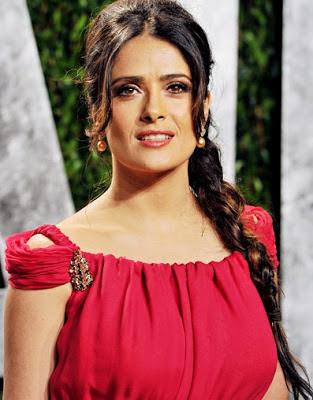 Salma Hayek in Red Dress