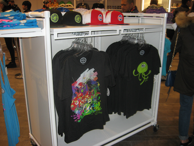 Splatoon black t-shirts jellyfish Inklings Nintendo merchandise