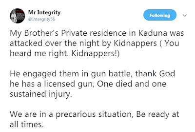 """""""My Brother Was Attacked By Kidnappers, He Killed One, Injured One"""" - Nigerian Man"""
