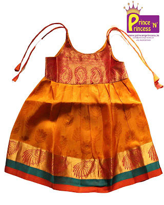 kdis online new born silk frock cradle ceremony first birthday festival pattu langa