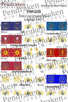 PNFL220   Swedish flags, type 1