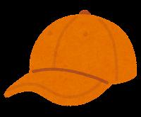野球帽のイラスト(オレンジ)