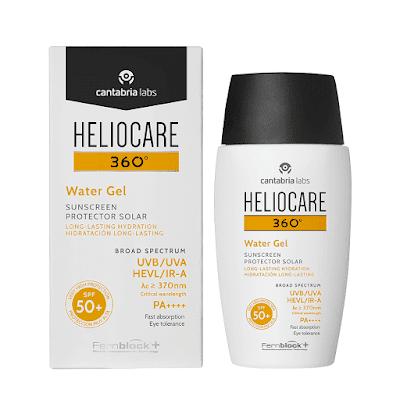 Mejor protector solar facial 2019  Heliocare 360 Water Gel SPF 50+