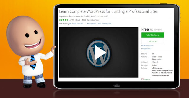 [100% Off] Learn Complete WordPress for Building a Professional Sites| Worth 80$