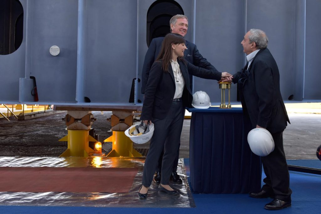 Fincantieri Holds Coin Ceremony for 1st Seaside-Class Smart Ship