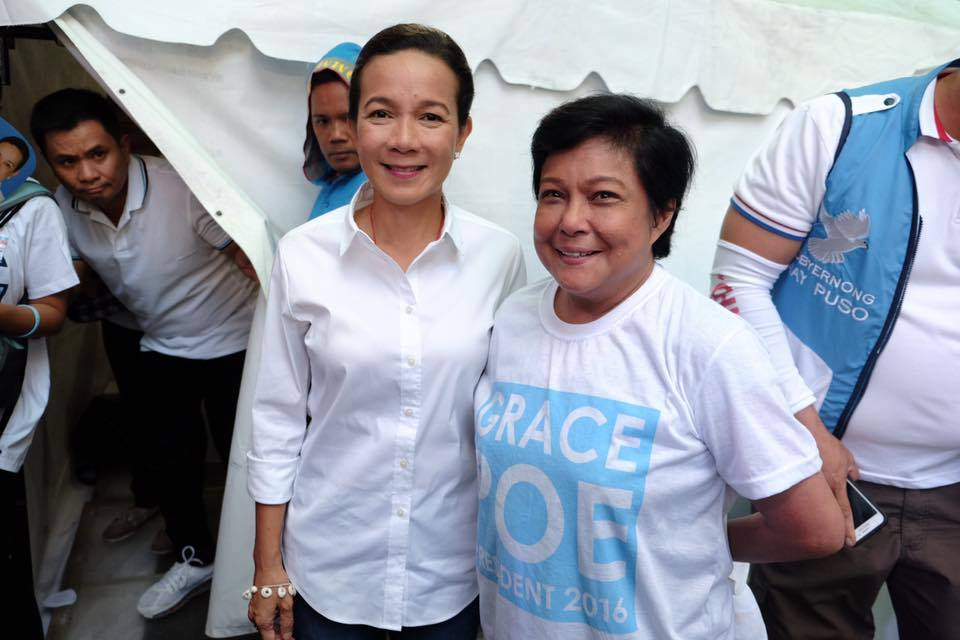 Nora Aunor supports Grace Poe