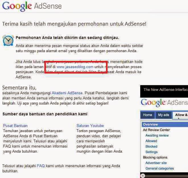 Cara Daftar Google Adsense Bagian Keenam