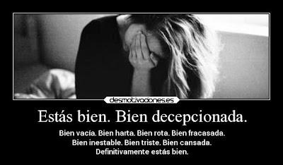 Que decepcion, estoy mal por amor, imagenes con frases de desilusion